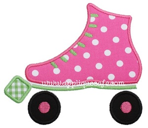 Roller Skate Applique Design
