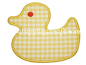 Rubber Ducky Applique Design