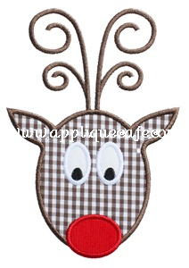 Rudolph 3 Applique Design