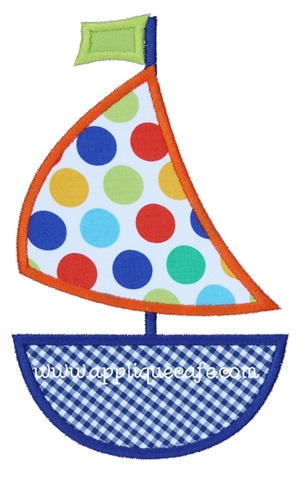 Sailboat 3 Applique Design