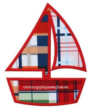 Sailboat 4 Applique Design