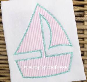 #1042 Sailboat 4 zig zag Applique Design
