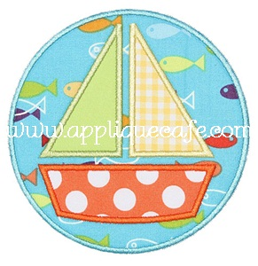 Sailboat Patch Applique Design