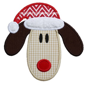 Santa Dog 2 Applique Design