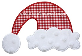 Santa Hat Applique Design