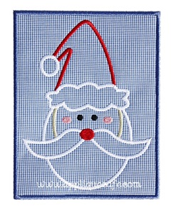 Santa Patch 3 Applique Design