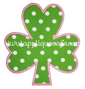 Satin Shamrock Applique Design