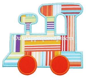 Satin Train Applique Design