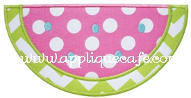 Satin Watermelon Applique Design