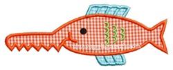 Saw Tooth Fish Applique Design
