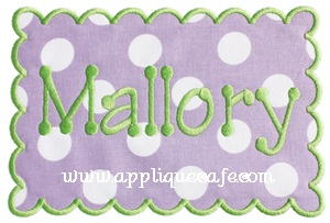 Rectangle Scalloped Patch Applique Design