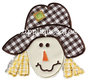 Scarecrow Applique Design
