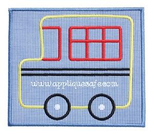 School Bus Patch Applique Design
