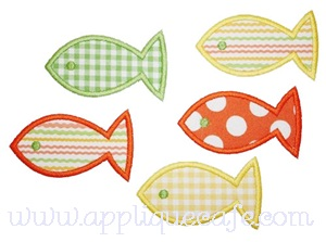 School of Fish Applique Design