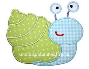 Sea Snail Applique Design