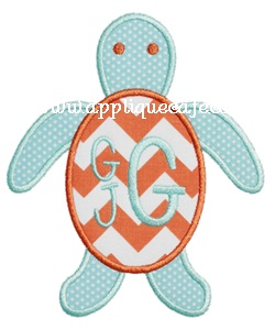 Sea Turtle 2 Applique Design
