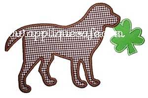 Shamrock Dog Applique Design