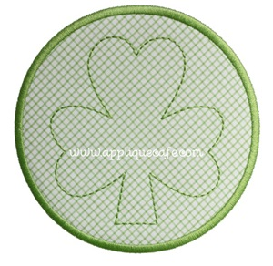 Shamrock Patch Applique Design