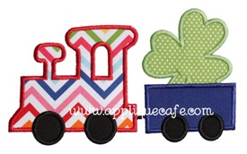 Shamrock Train Applique Design