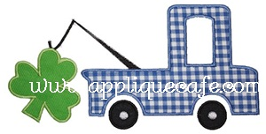 Shamrock Truck Applique Design