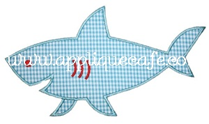 Shark Applique Design