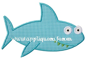 Shark 3 Applique Design