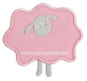 Sheep Patch Applique Design