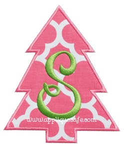 Simple Christmas Tree Applique Design