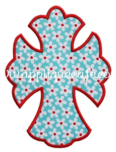 Simple Cross Applique Design