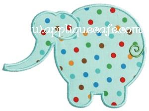 Simple Elephant Applique Design