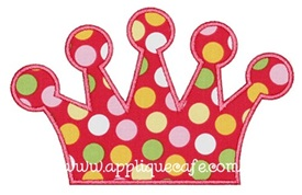 Simple Tiara Applique Design