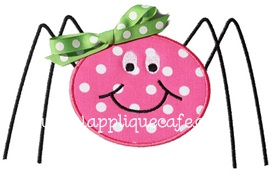 Simple Spider Applique Design
