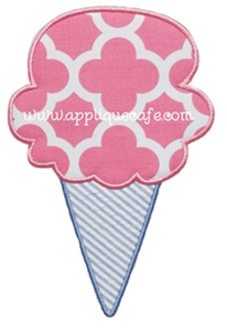 Single Scoop Applique Design