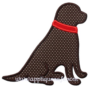 Sitting Dog Applique Design