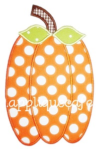 Skinny Pumpkin Applique Design