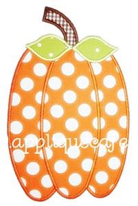 Skinny Pumpkin Applique Design