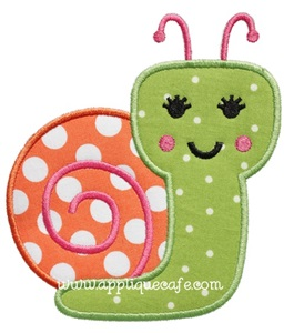 Snail 3 Applique Design