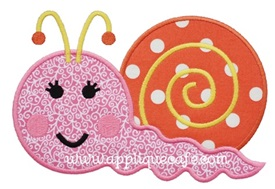 Snail 4 Applique Design