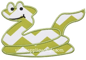 Snake Applique Design