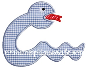 Snake 3 Applique Design