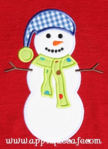 Snowman 2 Applique Design