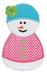 Snowman 3 Applique Design