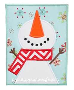 Snowman Patch 2 Applique Design