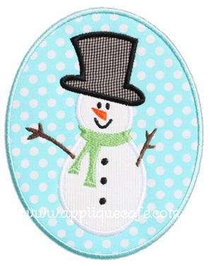Snowman Patch Applique Design