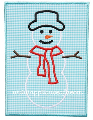 Snowman Patch 3 Applique Design