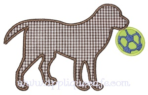 Soccer Dog Applique Design