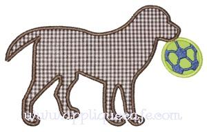 Soccer Dog Applique Design