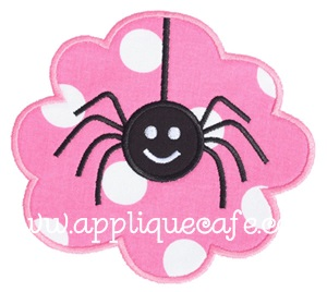 Spider Patch Applique Design