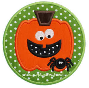 Spider Pumpkin Patch Applique Design