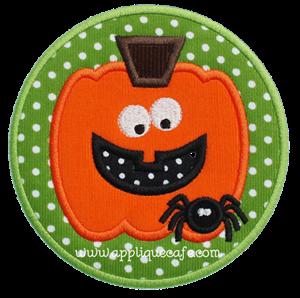 Spider Pumpkin Patch Applique Design